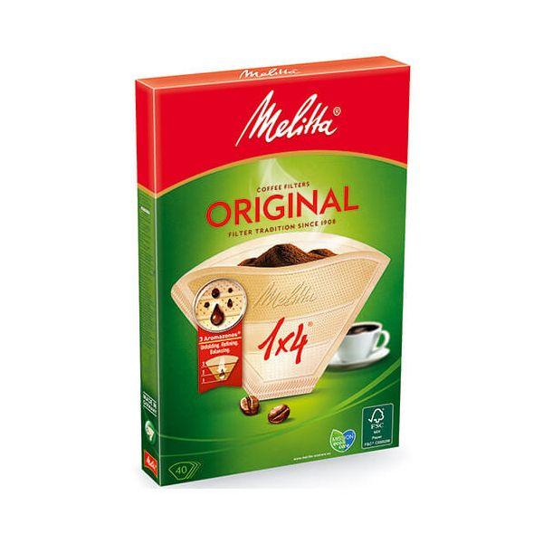 Melitta Original Coffee Filters 1x4 Pack Of 40