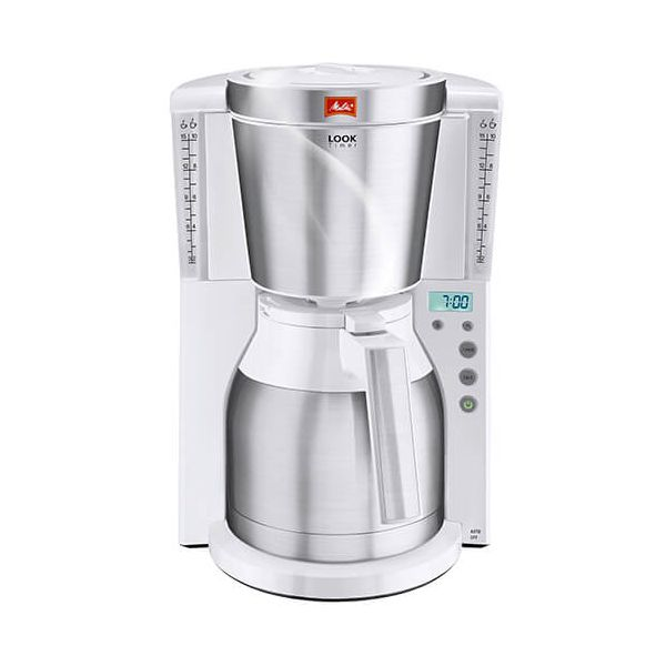 Melitta Look Therm Timer White Filter Coffee Machine