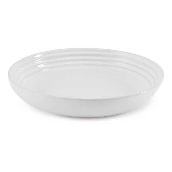 Le Creuset White Stoneware 22cm Pasta Bowl