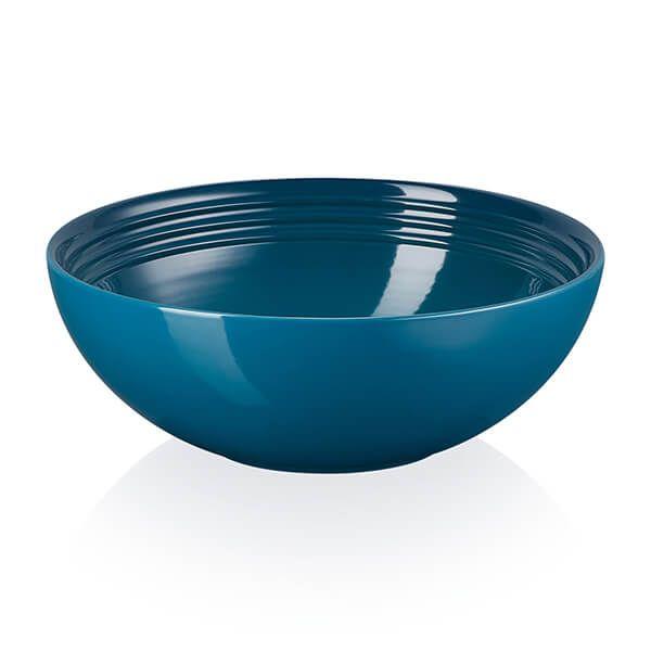 Le Creuset Deep Teal Stoneware 24cm Serving Bowl