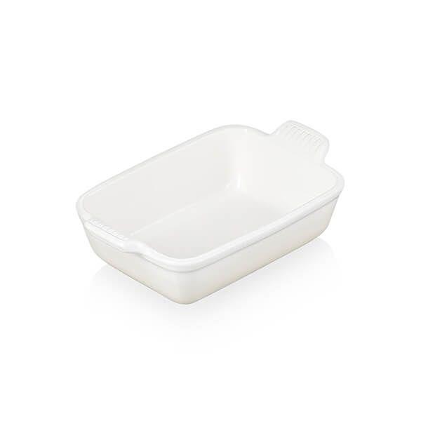 Le Creuset Meringue Stoneware Small 19cm Heritage Rectangular Dish