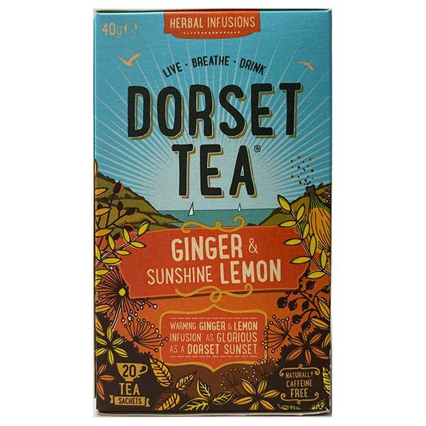 Dorset Tea Ginger & Sunshine Lemon 20 Tea Bags