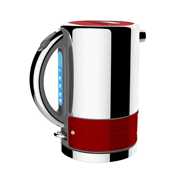 Dualit Architect Grey and Apple Candy Red Kettle