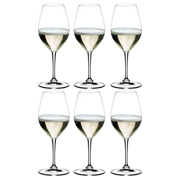 Riedel Vinum Champagne Wine Glasses Set Of 6