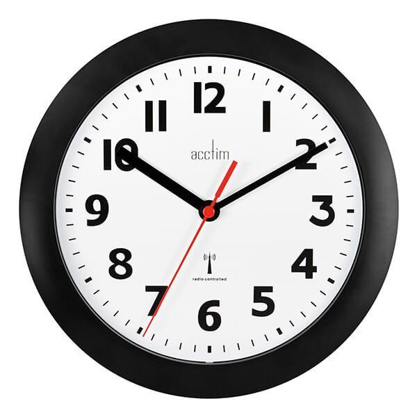 Acctim Parona Wall Clock Black
