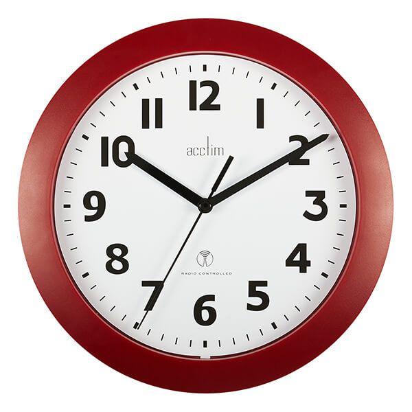 Acctim Parona Wall Clock Red