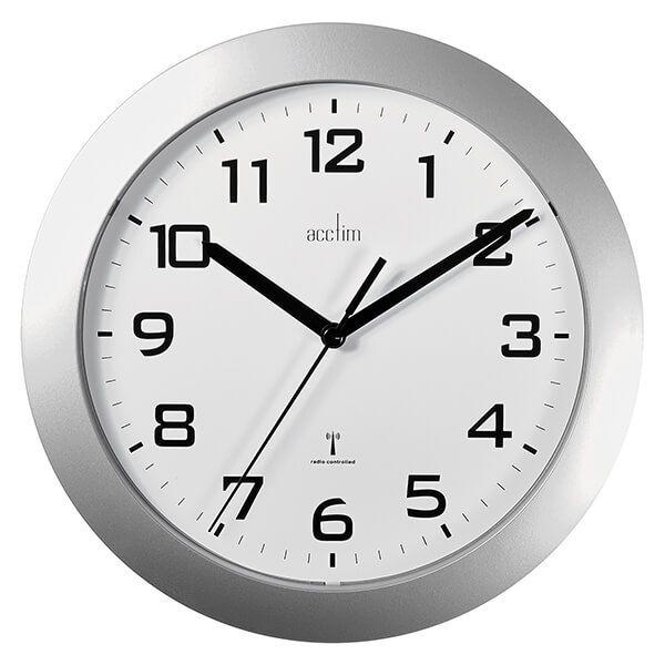 Acctim Peron Wall Clock Silver