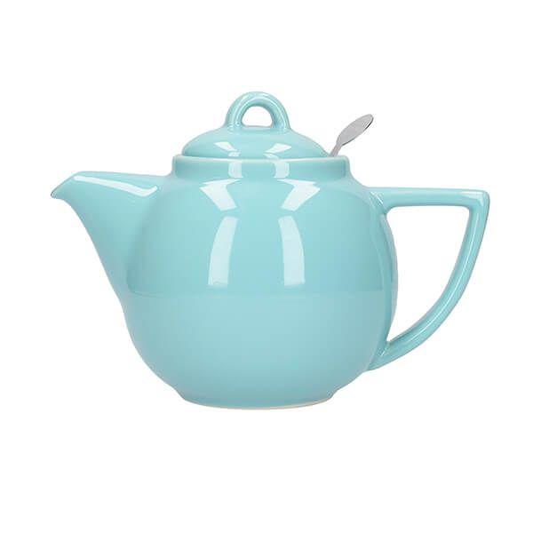 London Pottery Geo Filter 2 Cup Teapot Aqua