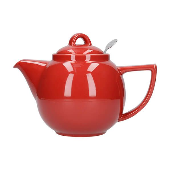 London Pottery Geo Filter 2 Cup Teapot Red