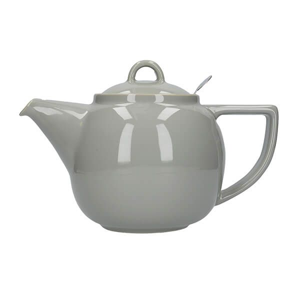 London Pottery Geo Filter 2 Cup Teapot Cobblestone
