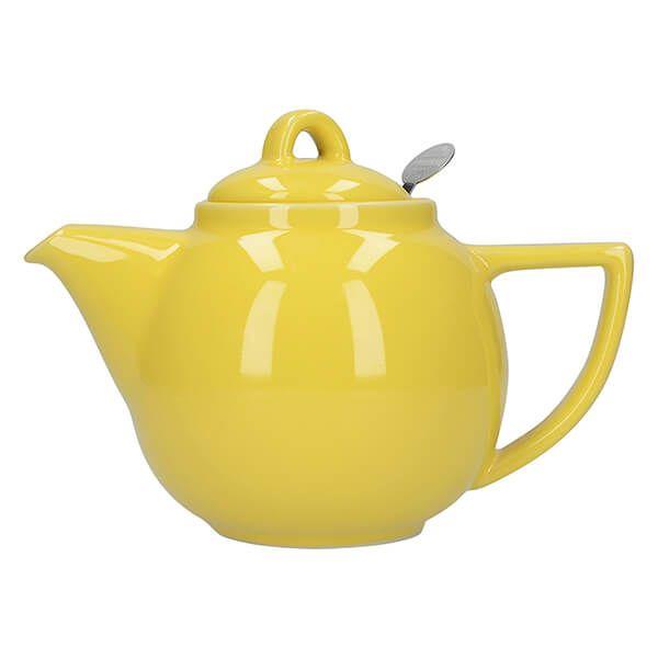 London Pottery Geo Filter 4 Cup Teapot Lemon