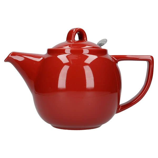 London Pottery Geo Filter 4 Cup Teapot Red