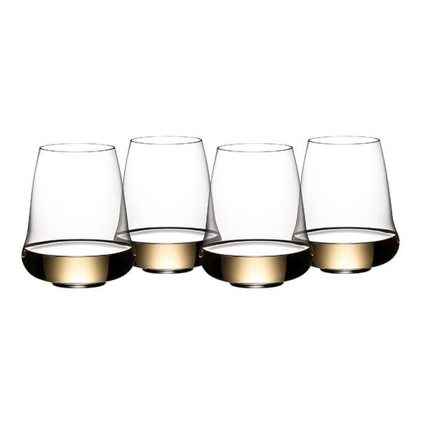 Riedel Stemless Wings 265 Year Anniversary Riesling / Champagne Wine Glass Set Of 4