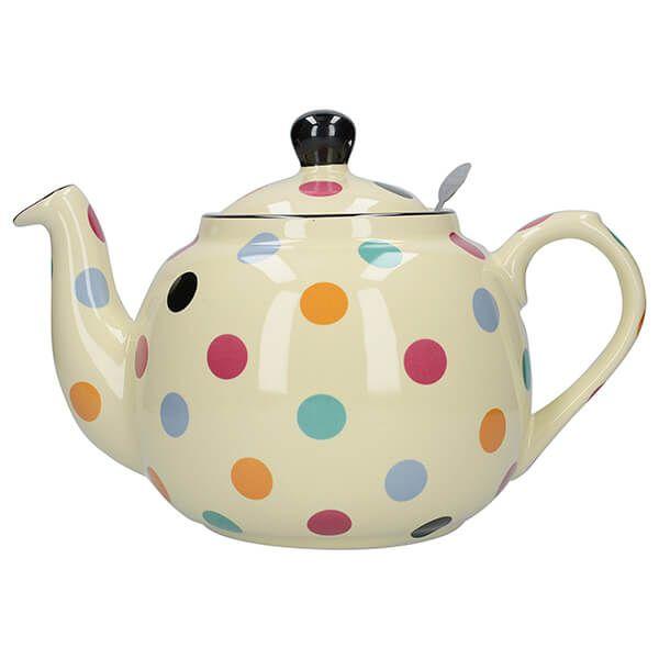London Pottery Farmhouse Filter 6 Cup Teapot Multi Spot