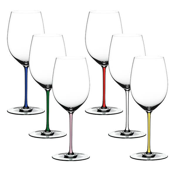 Riedel Hand Made Fatto A Mano Gift Set Cabernet/Merlot Glasses Mixed Stems