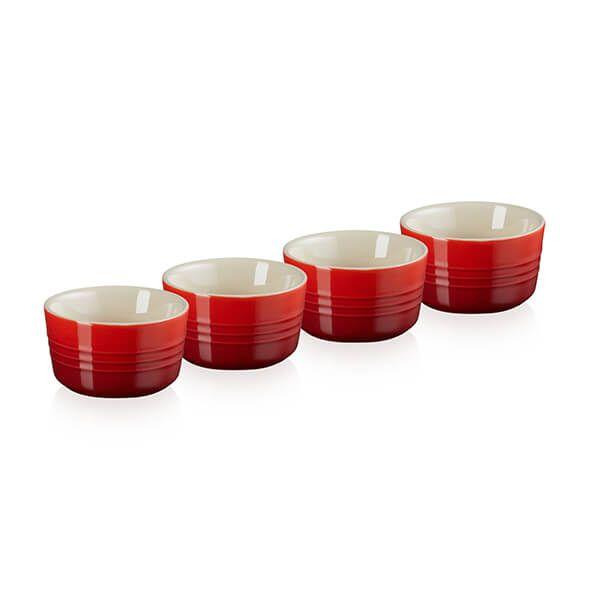 Le Creuset Cerise Stoneware Set of 4 Mini Ramekins