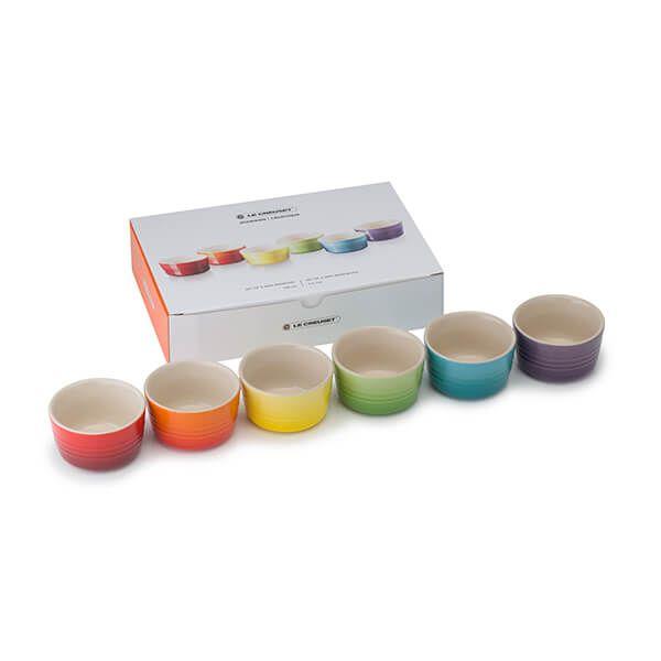 Le Creuset Rainbow Set of 6 Mini Ramekins