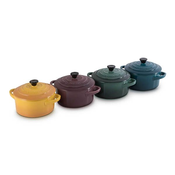 Le Creuset Botanique Stoneware Set Of 4 Mini Cocottes