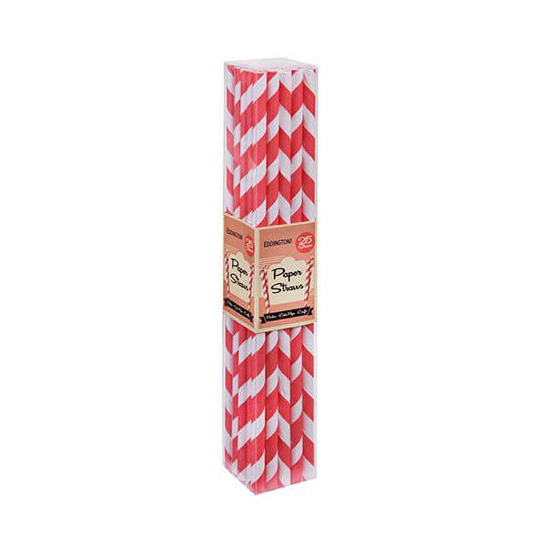 Eddingtons Paper Straws Red 25 Pack