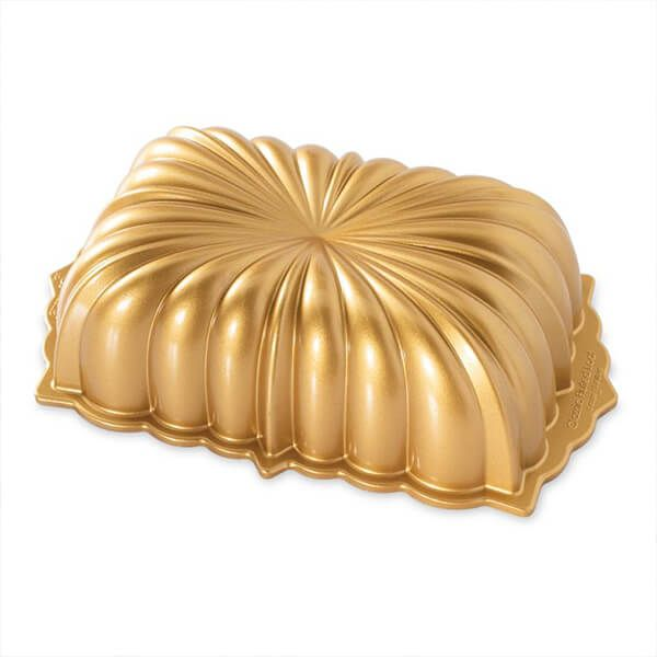 Nordic Ware Fluted Loaf Pan Gold