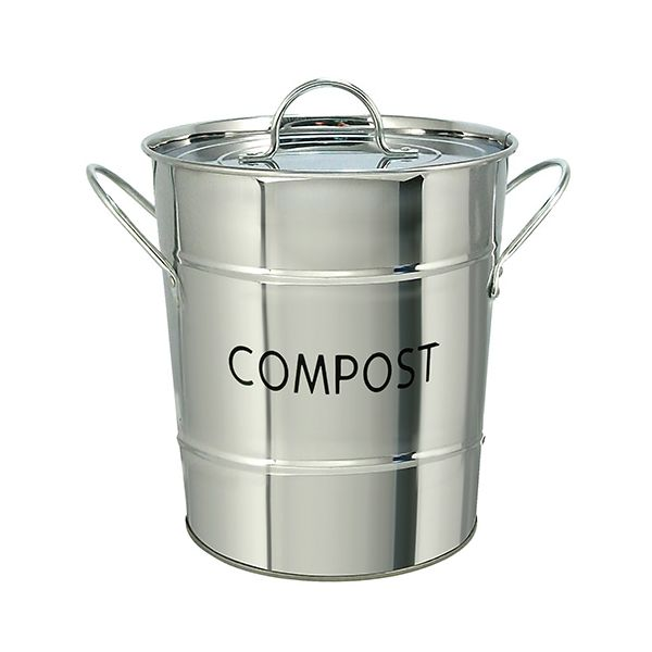 Eddingtons Compost Pail / Bin Stainless Steel