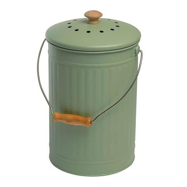 Eddingtons 7 Litre Compost Pail / Bin Sage
