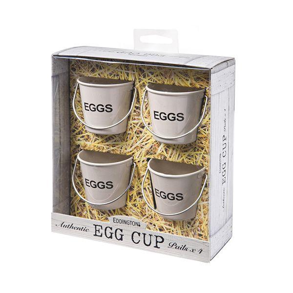Eddingtons Cream Bucket Egg Cups Set Of 4