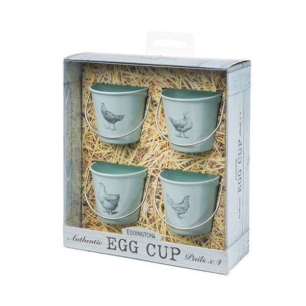 Eddingtons Vintage Hens Bucket Egg Cups Set Of 4