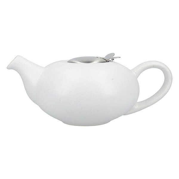 London Pottery Pebble Filter 4 Cup Teapot Matt White