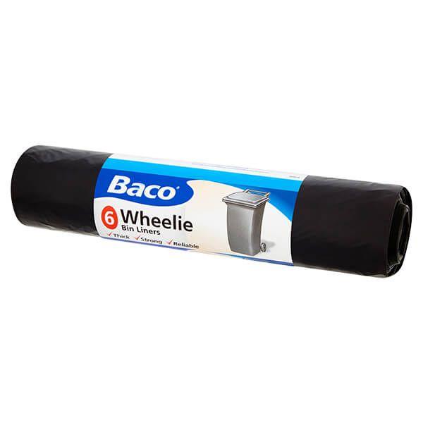 Baco 6 x 240L Wheelie Bin Liners