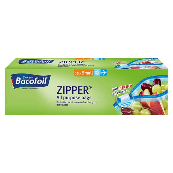 Bacofoil 15 x 1L Zipper Bags