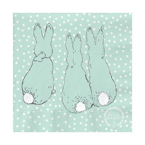 Peter Rabbit Contemporary Cotton Tail Polka Dot Napkins