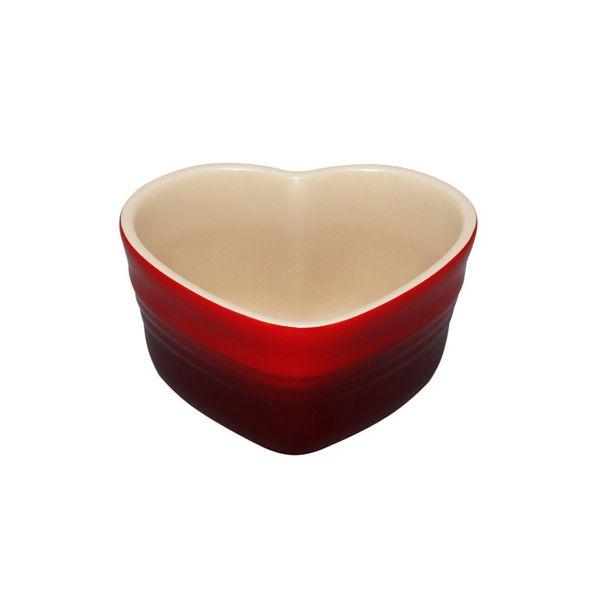Le Creuset Cerise Stoneware Heart Ramekin