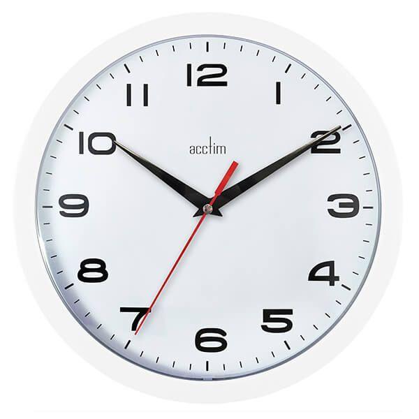 Acctim Aylesbury Wall Clock White