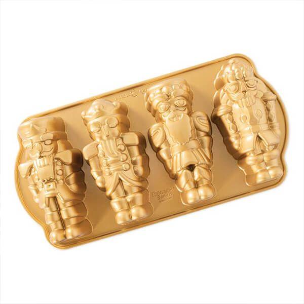 Nordic Ware Nutcracker Cakelet Pan Gold