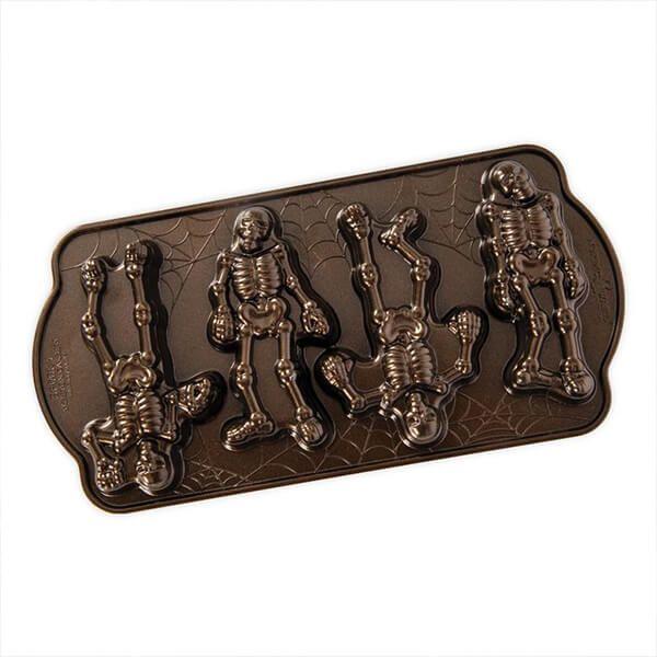 Nordic Ware Spooky Skeleton Cakelet Pan Bronze