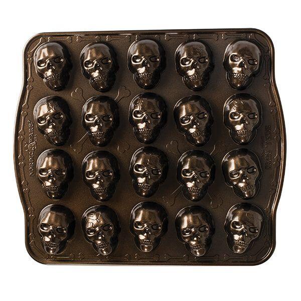 Nordic Ware Bronze Skull Bites Cakelet Pan