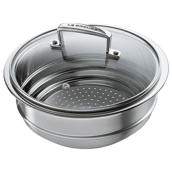 Le Creuset Multi-steamer Insert with Glass Lid