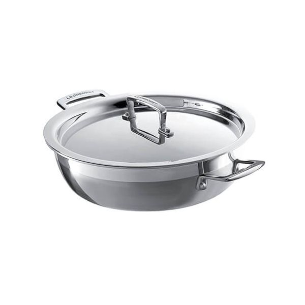 Le Creuset 3-ply Stainless Steel 26cm Shallow Casserole