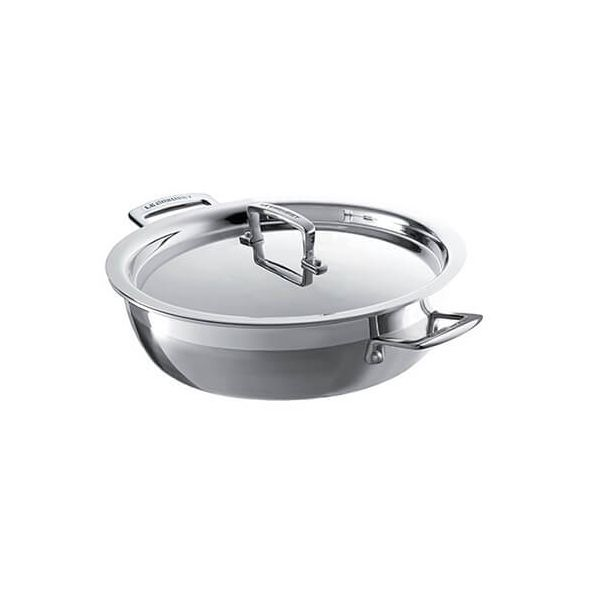 Le Creuset 3-ply Stainless Steel 24cm Shallow Casserole