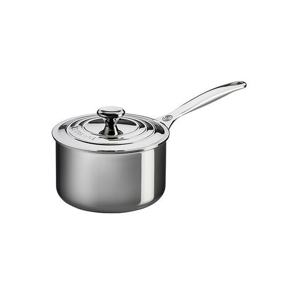 Le Creuset Signature 3-Ply Stainless Steel 16cm Saucepan With Lid