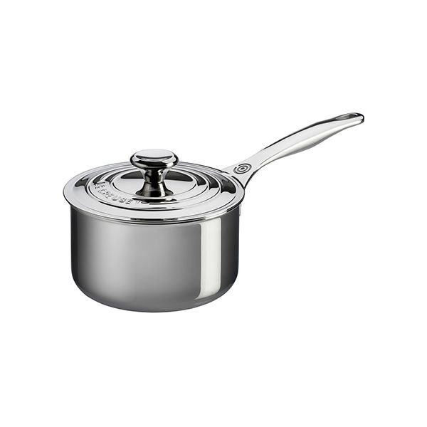 Le Creuset Signature 3-Ply Stainless Steel 18cm Saucepan With Lid