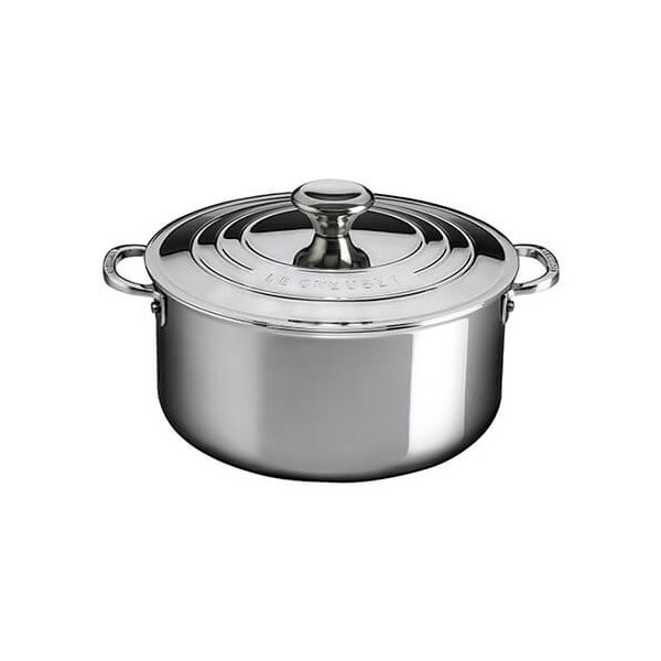 Le Creuset Signature 3-Ply Stainless Steel 24cm Shallow Casserole