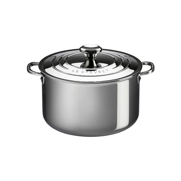 Le Creuset Signature 3-Ply Stainless Steel 24cm Stockpot With Lid
