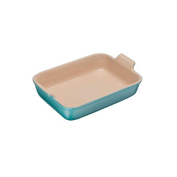 Le Creuset Teal Stoneware 19cm Deep Rectangular Dish