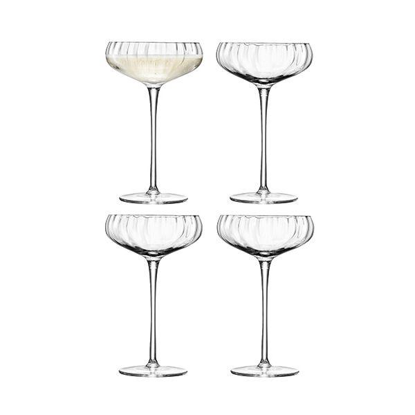 LSA Aurelia Champagne Saucer 300ml Set Of Four