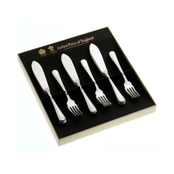Arthur Price of England Britannia Sovereign Stainless Steel Set of 6 Pairs Of Fish Eaters