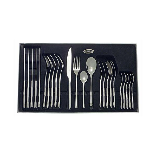 Stellar Raglan Polished 24 Piece Cutlery Gift Box Set