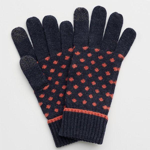 Seasalt Very Clever Gloves Confetti Dark Night Copper