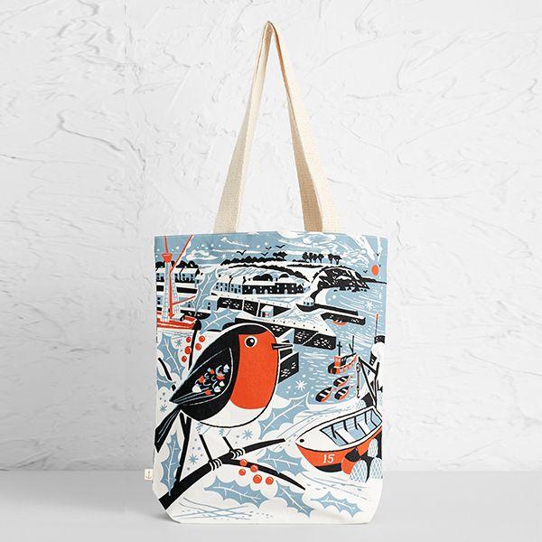 Seasalt Canvas Shopper Charlestown Robin